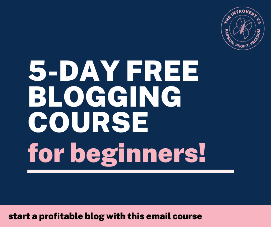 5-day free blogging bootcamp for beginners